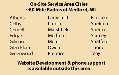 chart of local cities (near Medford) served